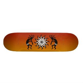 Kokopelli Tribal Sun Ombre Sunset Skateboard