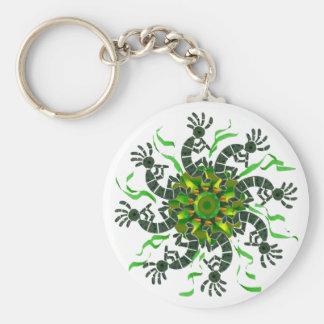 Kokopelli Wheel Keychain