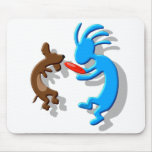 Kokopelli Wiener Dog Mouse Pad