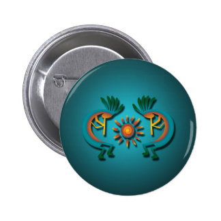 Kokopelli with Sun Button