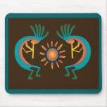 Kokopelli with Sun Southwest Brown Mousepad Mousepads