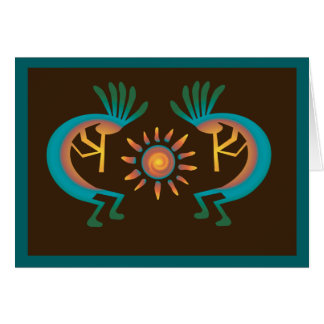 Kokopelli with Sun Southwest Card