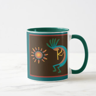 Kokopelli with Sun Southwest Coffee Mugs