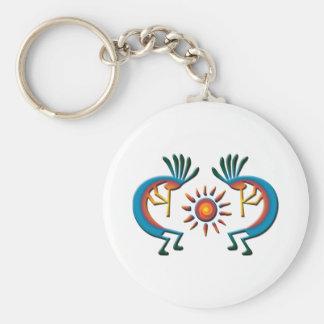 Kokopelli with Sun Southwest  Key Chain