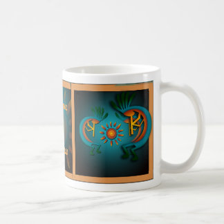 Kokopelli with Sun Southwest Template Mug