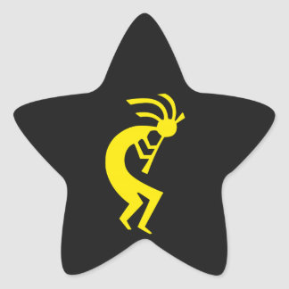 Kokopelli Yellow Star Sticker