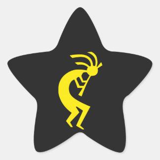 Kokopelli Yellow Star Sticker