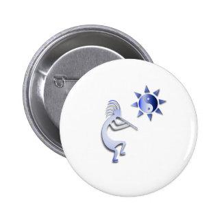 Kokopelli Yin Yang Sun 6 Cm Round Badge