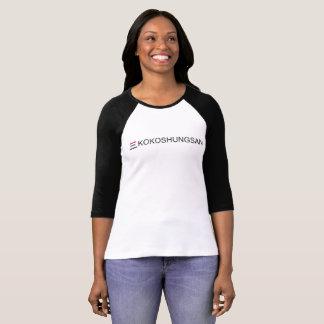 KOKOSHUNGSAN Women's Bella+Canvas 3/4 Sleeve Ragla T-Shirt