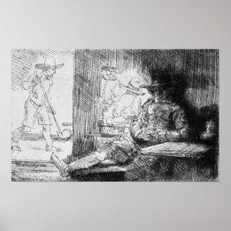 Kolf game, 1654 poster
