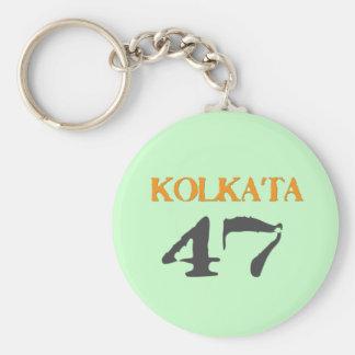 Kolkata 47 basic round button key ring