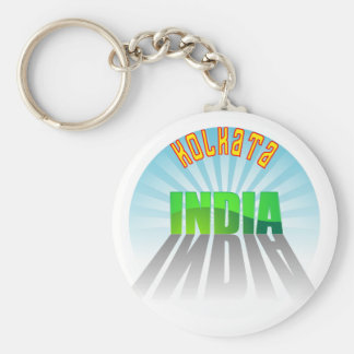 Kolkata Basic Round Button Key Ring
