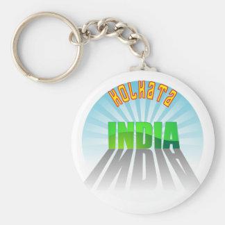 Kolkata Basic Round Button Key Ring