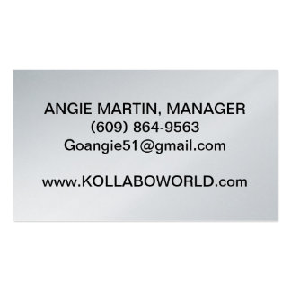 """KOLLABO MANAGER'S BUSINESS CARDS 3.5""""X2.0"""", 100 PK"""
