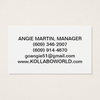 "KOLLABO MANAGER'S BUSINESS CARDS 3.5""X2.0"", 100 PK"