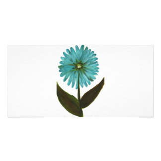 Kolleen s Teal Flower 2 Photo Cards