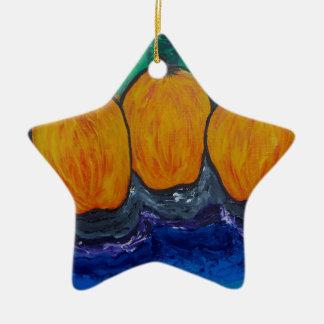 Kolme Omenaa Ceramic Star Decoration