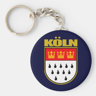 Koln (Cologne) Basic Round Button Key Ring