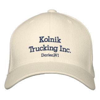 Kolnik Trucking Inc., Darien,WI Embroidered Hat