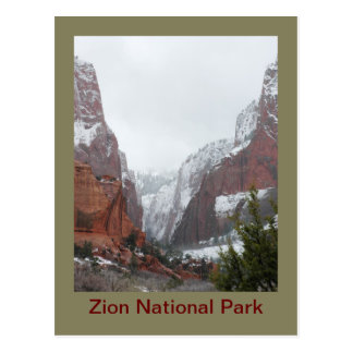 Kolob Canyons after a Late Winter Storm Postcard