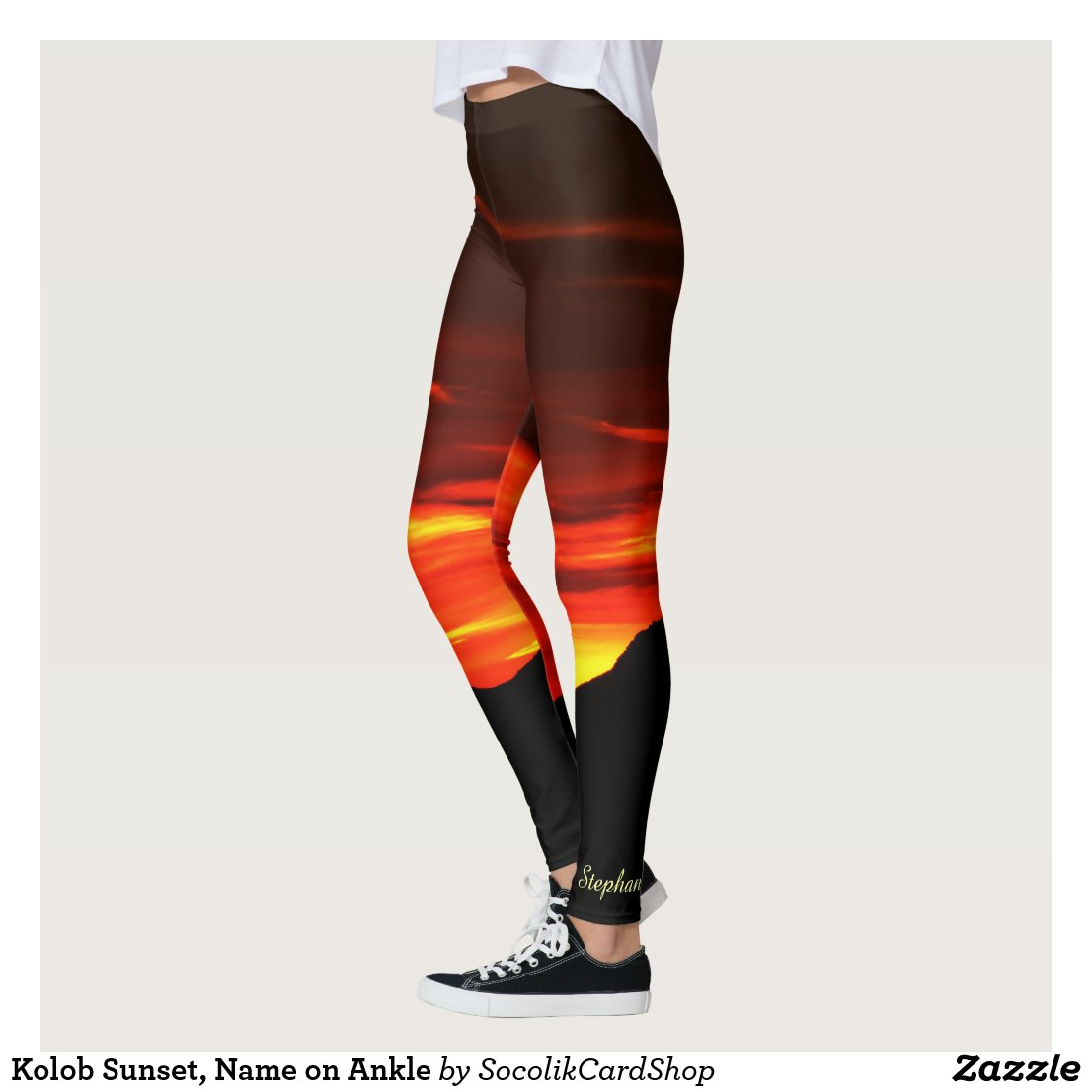 Kolob Sunset Leggings with Name on Ankle