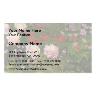 Koloman Moser - Blooming Flowers with Garden Fence Business Card Templates