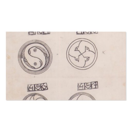 Koloman Moser- Designs for silver brooches Business Cards
