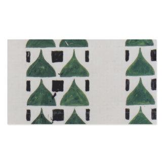 Koloman Moser- Draft for wall decoration Business Card Templates
