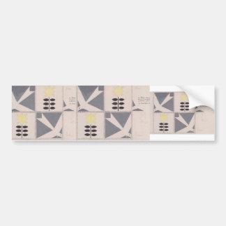 Koloman Moser- Draft of furniture decoration Bumper Sticker