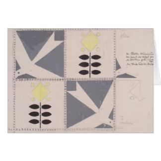 Koloman Moser- Draft of furniture decoration Cards