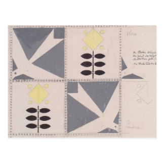 Koloman Moser- Draft of furniture decoration Post Cards