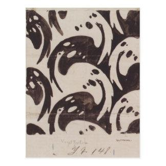 Koloman Moser- Fabric design for Backhausen Postcards