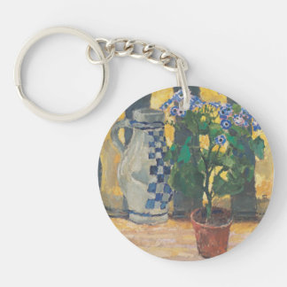Koloman Moser- Flower pot and ceramic jug Single-Sided Round Acrylic Key Ring
