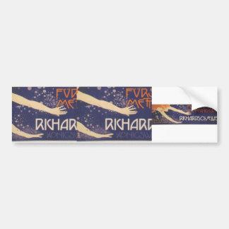Koloman Moser-Poster of Prince Richard Metternich Bumper Sticker
