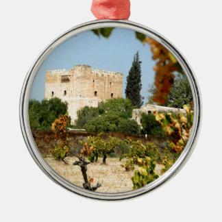 Kolossi Cyprus. Kolossi Castle. Christmas Ornament