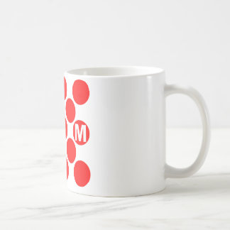 KOM Red Dots Classic White Coffee Mug