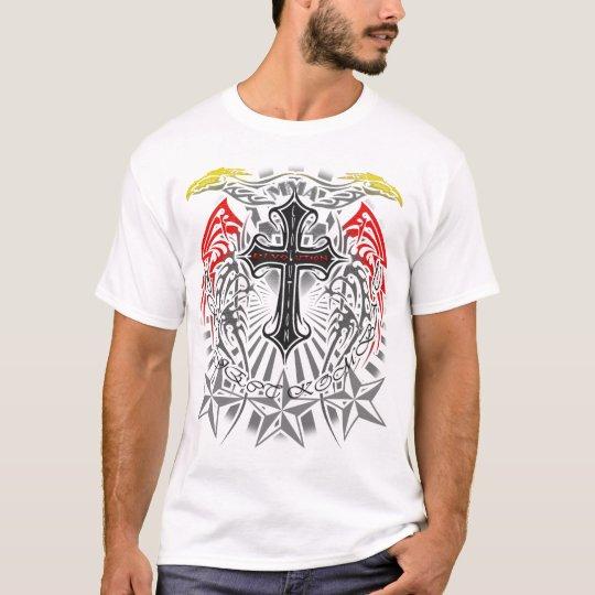 Kombat MMA Kross and Tribal Design T-Shirt