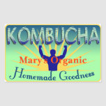 Kombucha Label Customise Your Own Rectangle Sticker