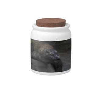 Komodo Dragon Ceramic Sweet Jar