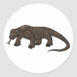 Komodo Dragon Classic Round Sticker