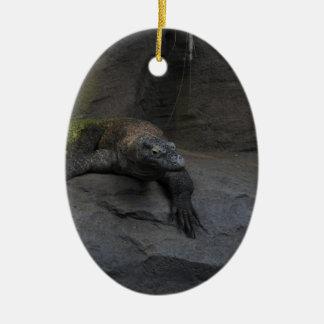 Komodo Dragon Ceramic Oval Decoration