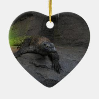 Komodo Dragon Ceramic Heart Decoration
