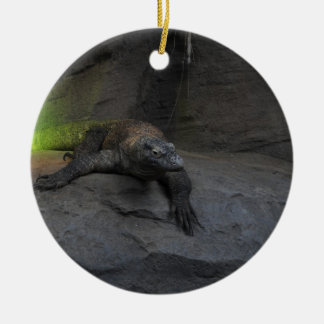 Komodo Dragon Round Ceramic Decoration