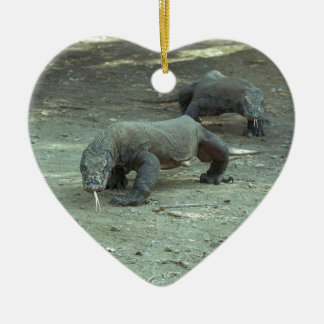 Komodo Dragon Heart Christmas Ornament