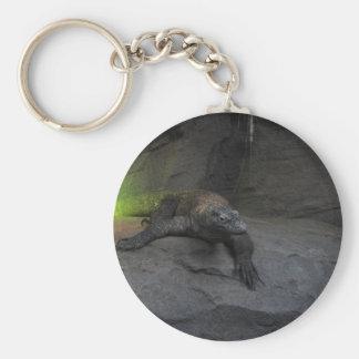Komodo Dragon Basic Round Button Key Ring