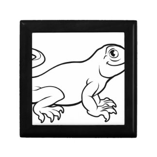 Komodo Dragon Lizard Cartoon Character Gift Box