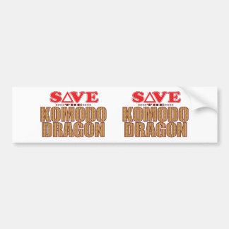 Komodo Dragon Save Bumper Sticker