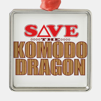 Komodo Dragon Save Christmas Ornament