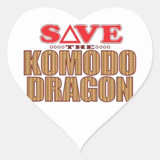 Komodo Dragon Save Heart Sticker