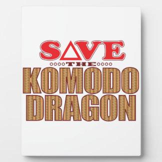 Komodo Dragon Save Plaque